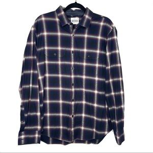 Bonobos Navy Red Flannel Standard Fit Button Up